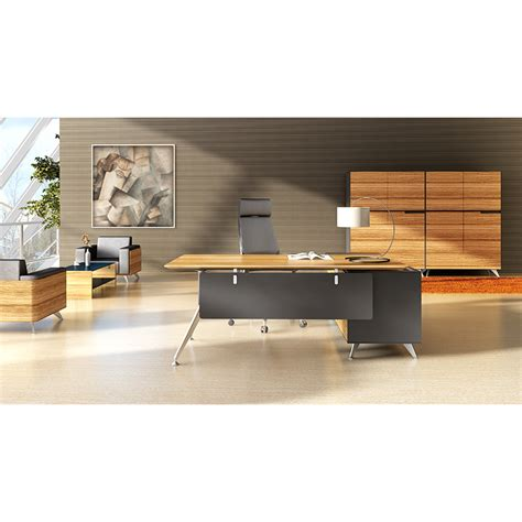 office desk with return milana executive desk and return fast office furniture