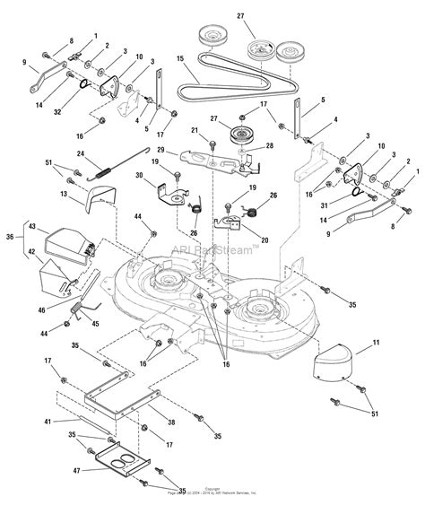 Garden Tractor Wiring Diagram Mtd 13ag601h729 by Murray 7800411 Elt155420h 15 5hp 42 Quot Hydro 2009 Parts
