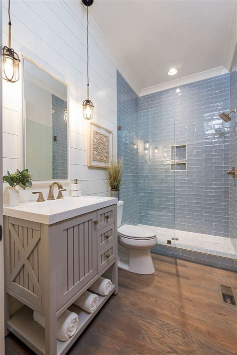 coastal farmhouse bathroom  shiplap walls store