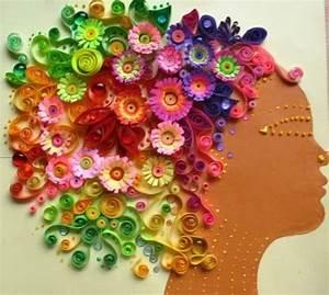 Blumen Aus Papier : herbst basteln mit papier haare von einer frau basteln mit kinder pinterest eine frau ~ Udekor.club Haus und Dekorationen