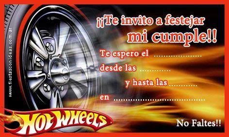 frases de hot wheels click aqu 237 para imprimir la tarjetita de invitaci 243 n de hot