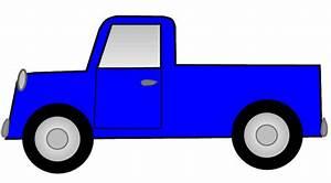 Blue Toy Trucks Clipart