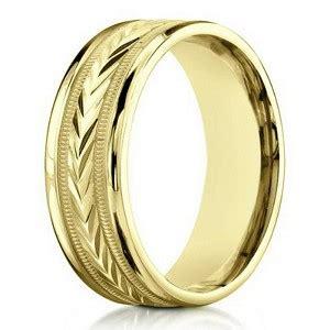 yelllow gold contemporary wedding band  men mm width