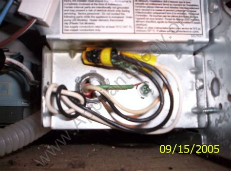 burnt power wire nuts   dishwasher junction box