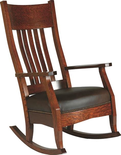 amish handcrafted mission rocker
