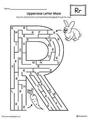 letter r worksheets for kindergarten letter r worksheet uppercase letter r maze worksheet myteachingstation 22799