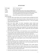 Contoh Notulen Resmi by Notulen Rapat