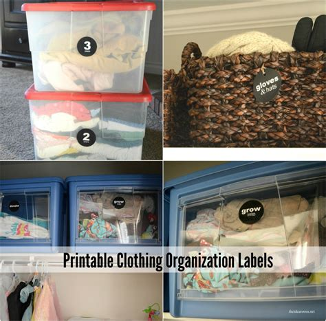 printable clothing organization labels  idea room