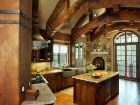 Kitchen Faucets Vancouver Timber Frame Home Rustic Kitchen Vancouver By Sitka Log Homes