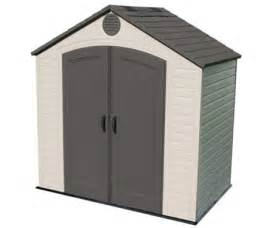 lifetime 7x7 plastic storage shed w two windows 60042
