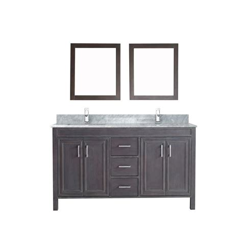 studio bathe vanity studio bathe dawlish 60 in vanity in gray with