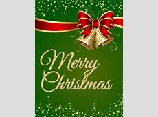 Sparkling Green Merry Christmas Card Birthday & Greeting