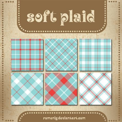Soft Plaid Patterns By Romenig On Deviantart