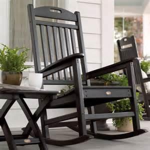 trex outdoor yacht club rocking chair wayfair