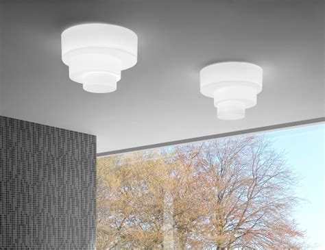 leucos pl modern italian designer ceiling light  white glass