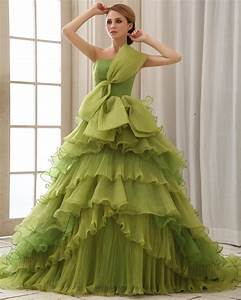elegant collection of green princess wedding dresses for With green wedding dresses