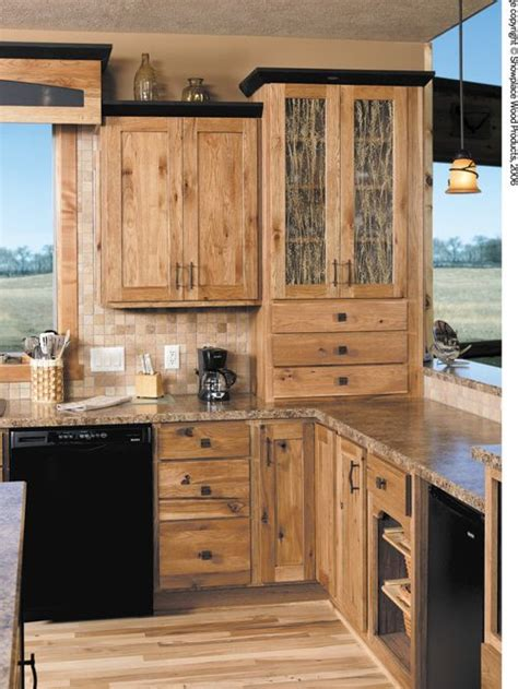 minnesota kitchen cabinets rustic hickory cabinets houzz 4146