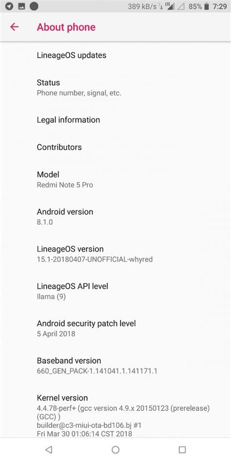 Unofficial LineageOS 15.1 now available for Xiaomi Redmi