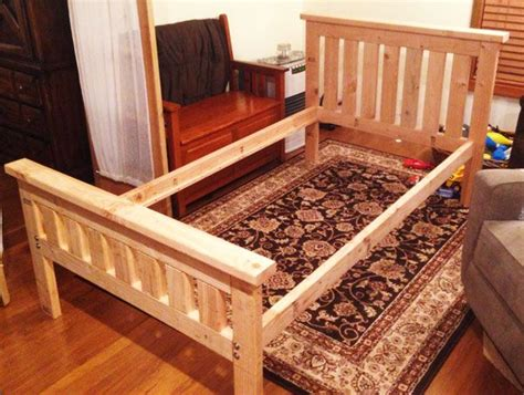 diy  bed frame bed frame plans diy toddler bed diy