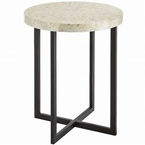 pier 1 imports mother of pearl accent table 12995 With west elm bone coffee table