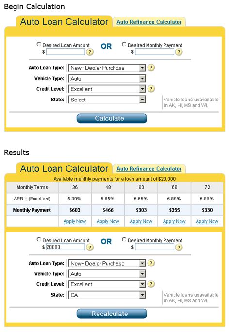calculator  auto loan cooking   pros