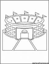 Coloring Stadium Pages Baseball Field Cutout Printable Template Mlb Cutouts Fan Diamond Popular sketch template