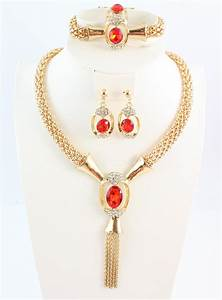 Costume Jewelry Necklaces  pink crystal necklace earrings