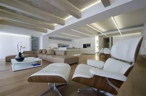 Eclairage Indirect Plafond : clairage indirect et int rieur blanc minimaliste dans une ~ Melissatoandfro.com Idées de Décoration