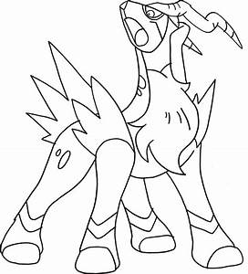 Pokemon Cobalion Coloring Pages Coloring Pages