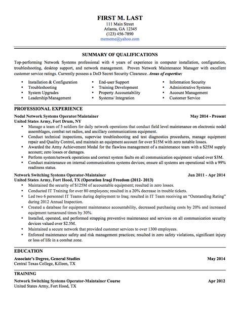 6 sle to civilian resumes hirepurpose