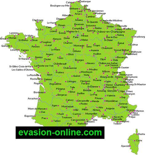 Carte De Avec Villes Principales Et Départements by Images De Plans Et Cartes De 187 Vacances Arts