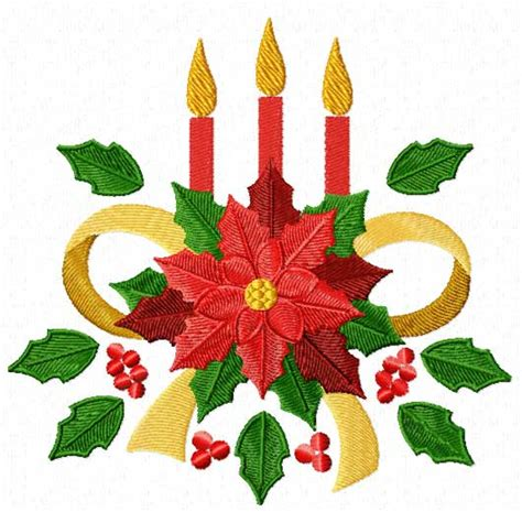 christmas motifs poinsettia machine embroidery designs