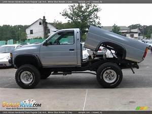 1990 Nissan Hardbody Truck Regular Cab 4x4 Winter Blue