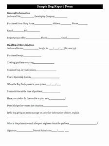 a bug report form is designed for the computer users who With software problem report template