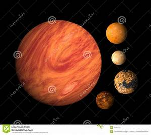 Planet Jupiter And Moons Stock Photos - Image: 7645413