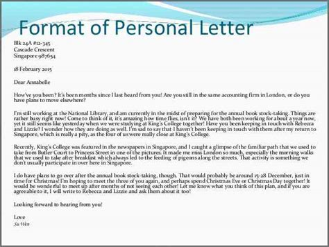 how to write a personal letter personal letter format bidproposalform 29803