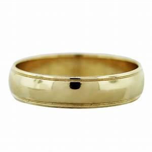 14k Yellow Gold Mens Wedding Band Ring Boca Raton