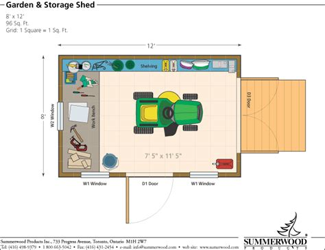 Shed Floor Plans by Floor Plan
