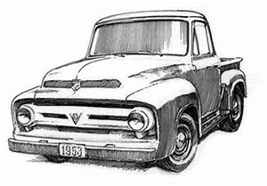 hot rod coloring pages sketch coloring page With 1955 ford f100 rat
