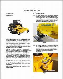 Cub Cadet Rzt Zero Turn Rider Lawn Mower Service Repair