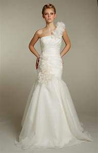 ivory wedding dresses aelida With one shoulder mermaid wedding dress