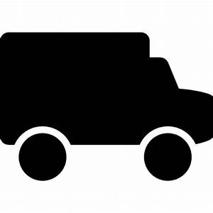 Small truck black side view silhouette Icons | Free Download