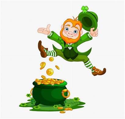 Leprechaun Pot Irish Clipart Transparent Patrick Happy