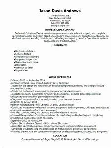 entry level electrician resume template best design With electrician resume