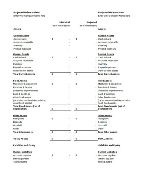 balance sheet   word excel  documents