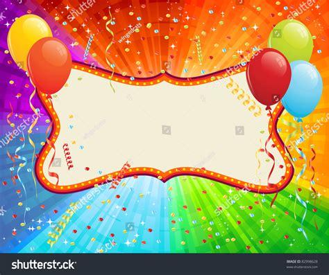 birthday card balloons confetti rgb eps stock vector