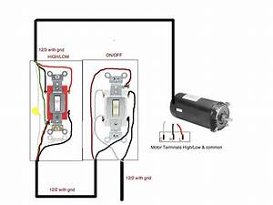 How To Connect 2 Speed Pool Pump Motor To A Toggle Switch