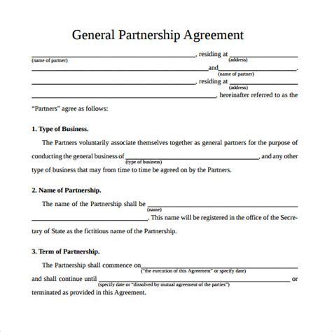 sample general partnership agreement templates
