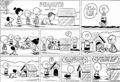 Snoopy Peanuts 1954 Doghouse Inside Comic Strips