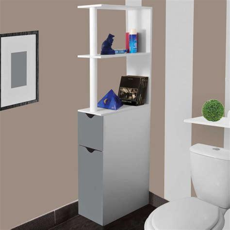 meuble de wc meuble wc 233 tag 232 re bois gain de place pour toilette 2 portes grises